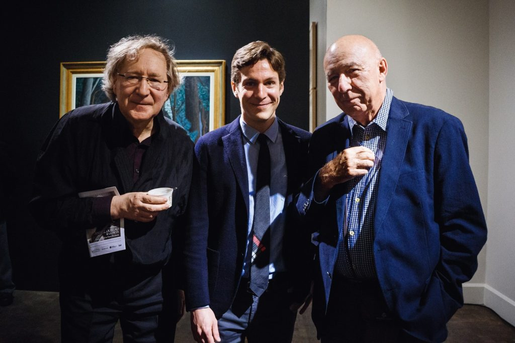 Helmut Lipsky, Maxime Goulet and François Dompierre for a concert with Angèle Dubeau & La Pietà, at the Montreal Fine Arts Museum. Photo by Nadia Zheng, 2015